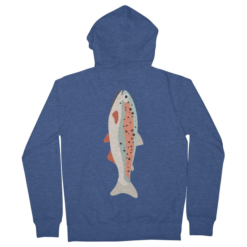 Trout Men's French Terry Zip-Up Hoody by Yellow Studio · the Shop!