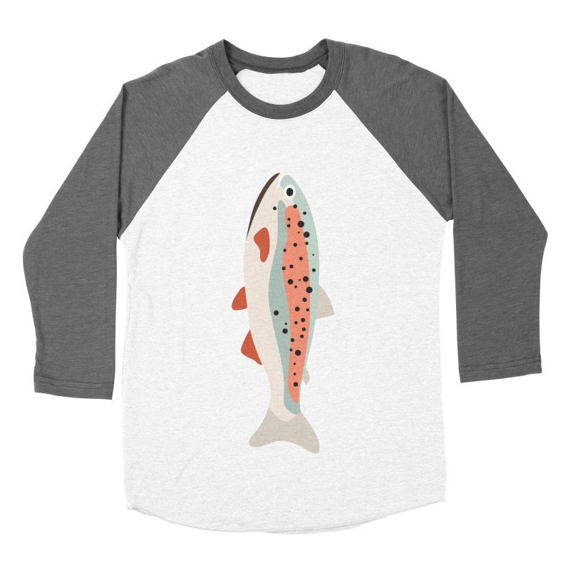 Trout Women's Baseball Triblend Longsleeve T-Shirt by Yellow Studio · the Shop!