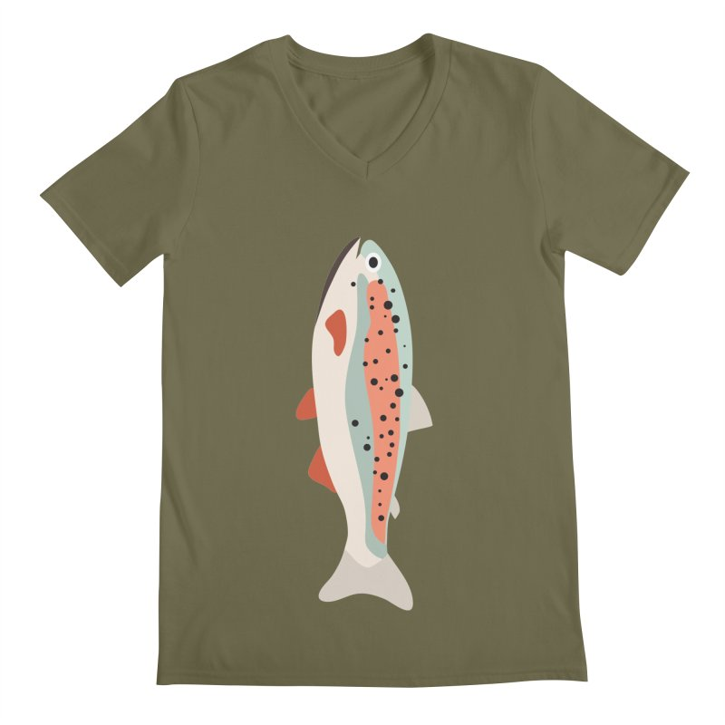 Trout Men's Regular V-Neck by Yellow Studio · the Shop!