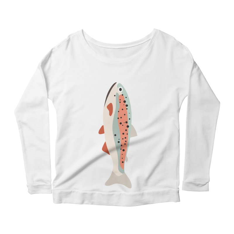 Trout Women's Scoop Neck Longsleeve T-Shirt by Yellow Studio · the Shop!