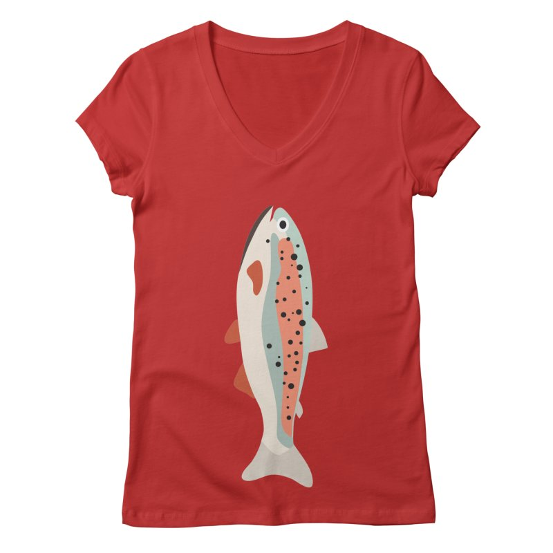 Trout Women's Regular V-Neck by Yellow Studio · the Shop!