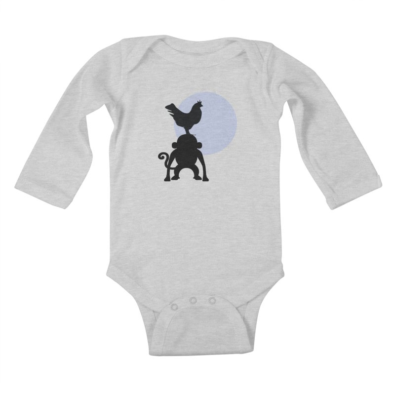 Cada macaco no seu un gallo Kids Baby Longsleeve Bodysuit by Yellow Studio · the Shop!