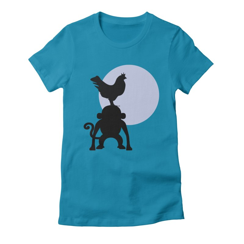 Cada macaco no seu un gallo Women's Fitted T-Shirt by Yellow Studio · the Shop!