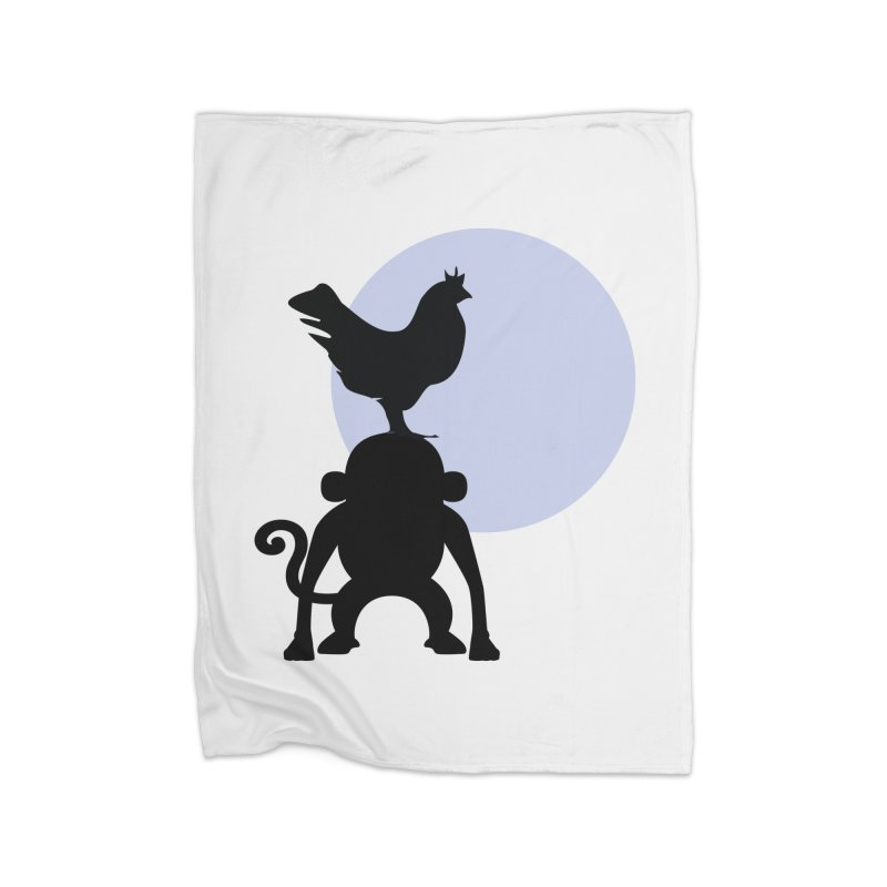 Cada macaco no seu un gallo Home Fleece Blanket Blanket by Yellow Studio · the Shop!
