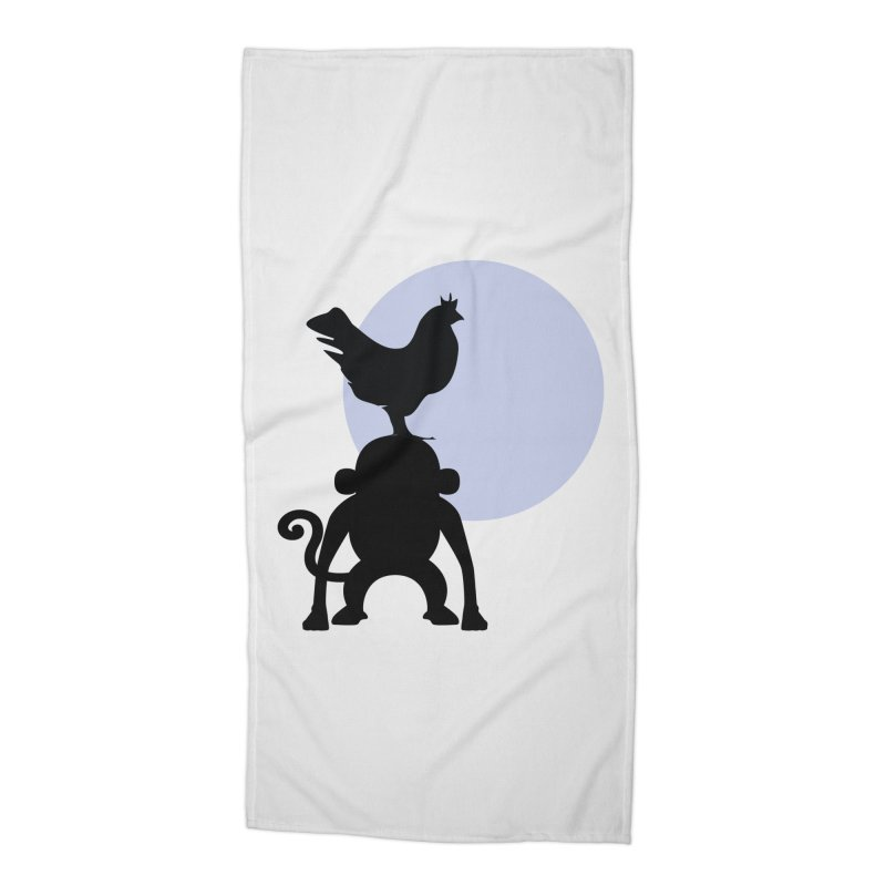 Cada macaco no seu un gallo Accessories Beach Towel by Yellow Studio · the Shop!