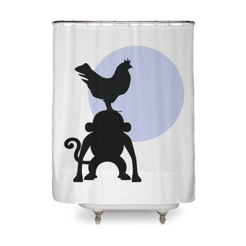 Cada macaco no seu un gallo Home Shower Curtain by Yellow Studio · the Shop!