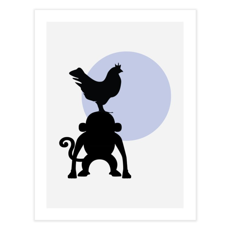 Cada macaco no seu un gallo Home Fine Art Print by Yellow Studio · the Shop!
