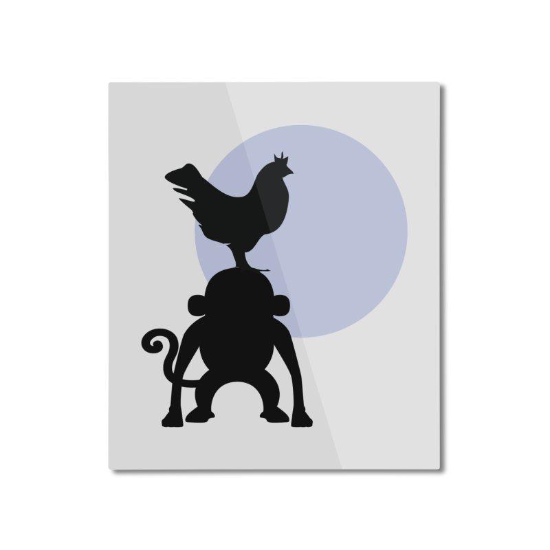 Cada macaco no seu un gallo Home Mounted Aluminum Print by Yellow Studio · the Shop!