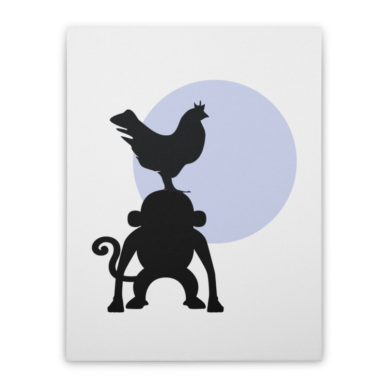 Cada macaco no seu un gallo Home Stretched Canvas by Yellow Studio · the Shop!