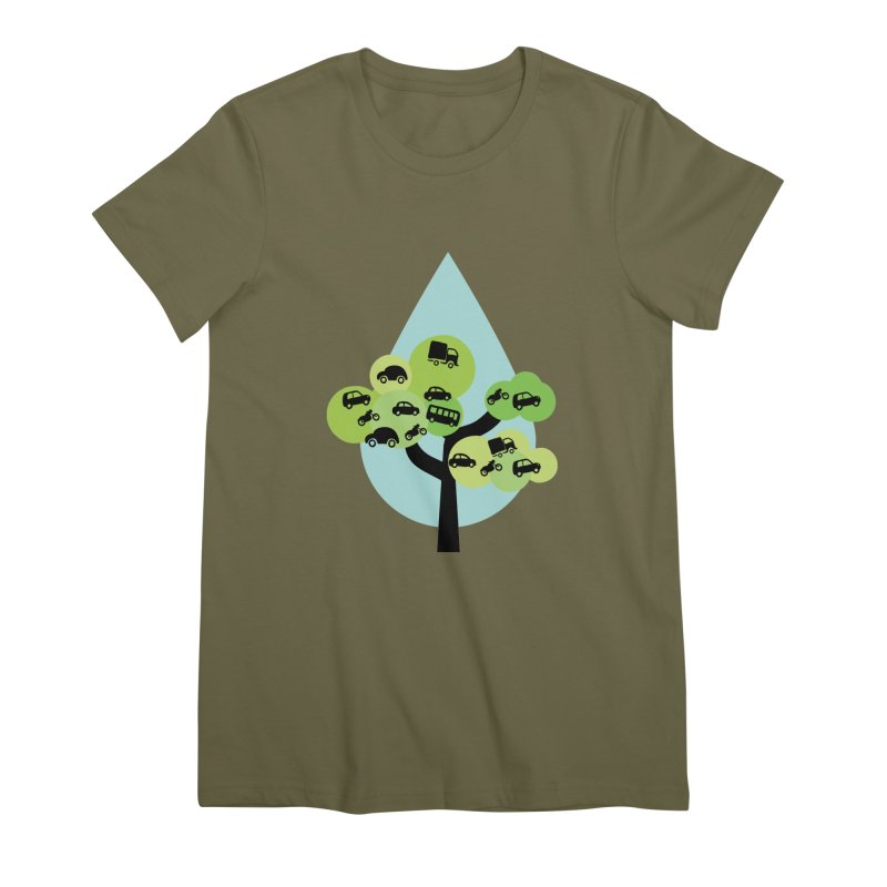 Cidade loca Women's Premium T-Shirt by Yellow Studio · the Shop!