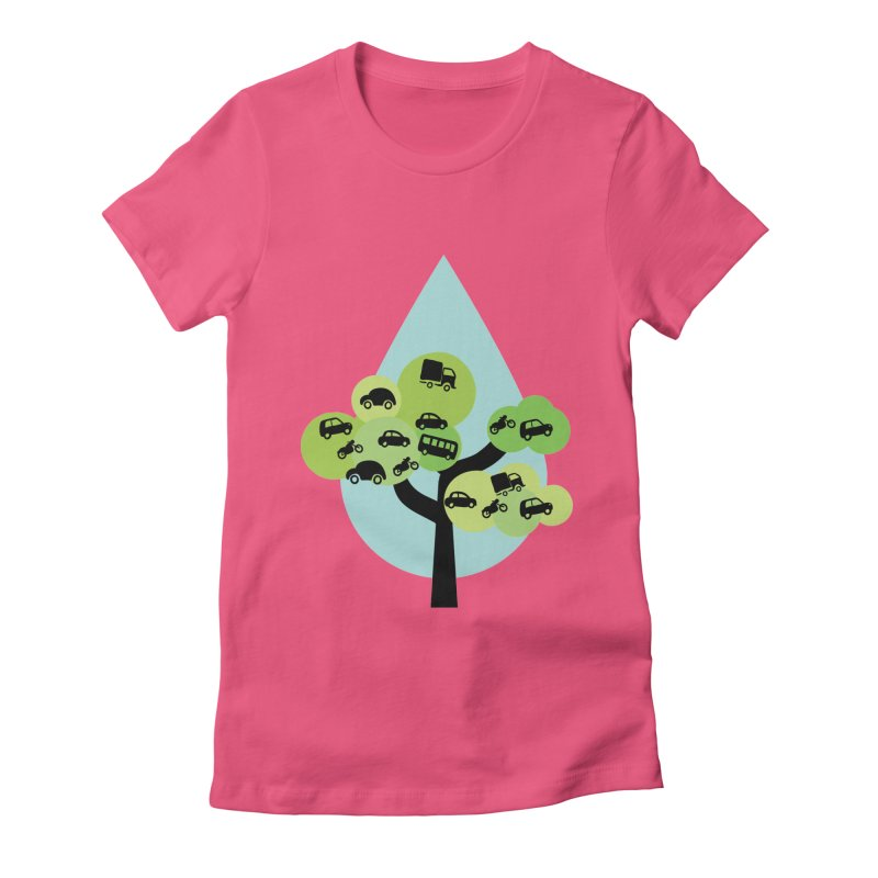 Cidade loca Women's Fitted T-Shirt by Yellow Studio · the Shop!