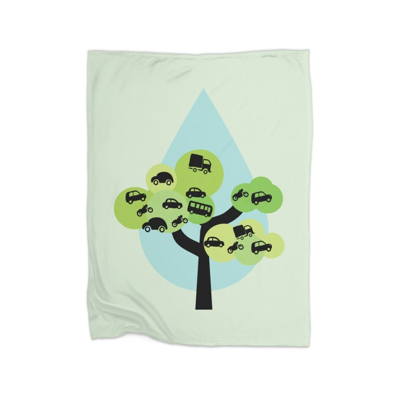 Cidade loca Home Fleece Blanket Blanket by Yellow Studio · the Shop!
