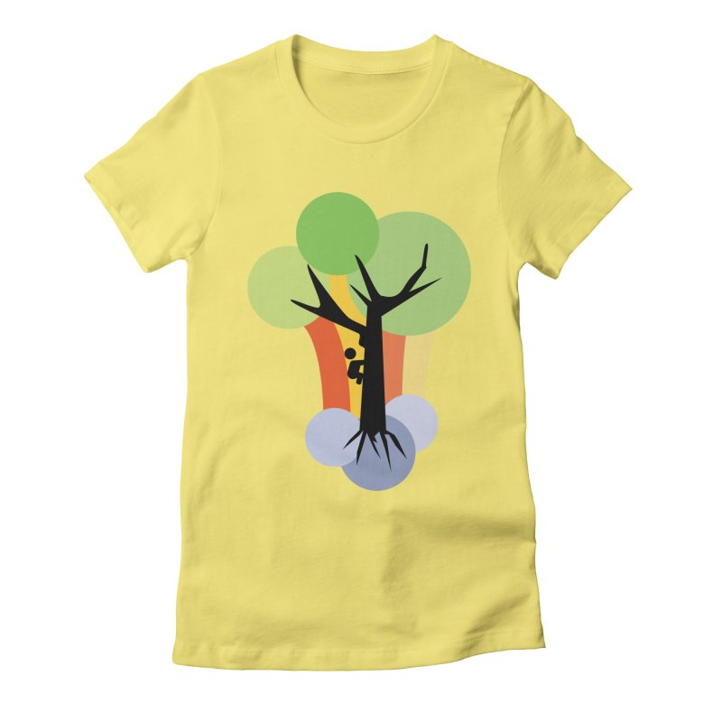 A walk in the park. Women's Fitted T-Shirt by Yellow Studio · the Shop!