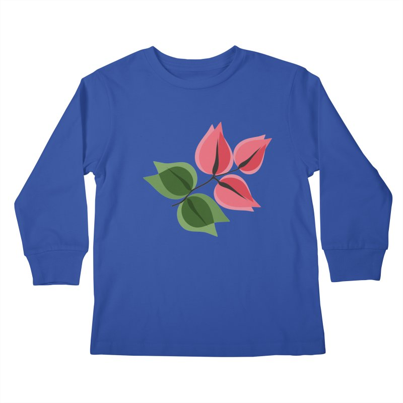 Buganvillea Kids Longsleeve T-Shirt by Yellow Studio · the Shop!