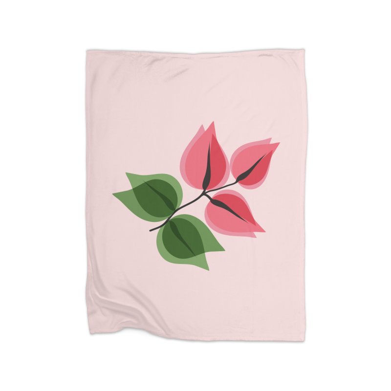 Buganvillea Home Fleece Blanket Blanket by Yellow Studio · the Shop!