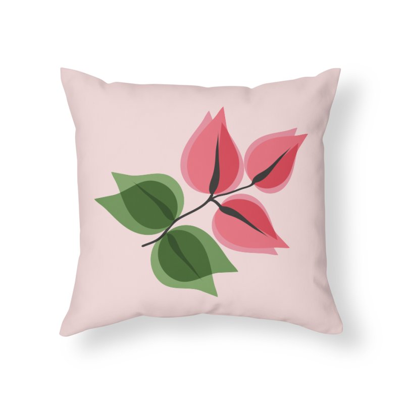 Buganvillea Home Throw Pillow by Yellow Studio · the Shop!