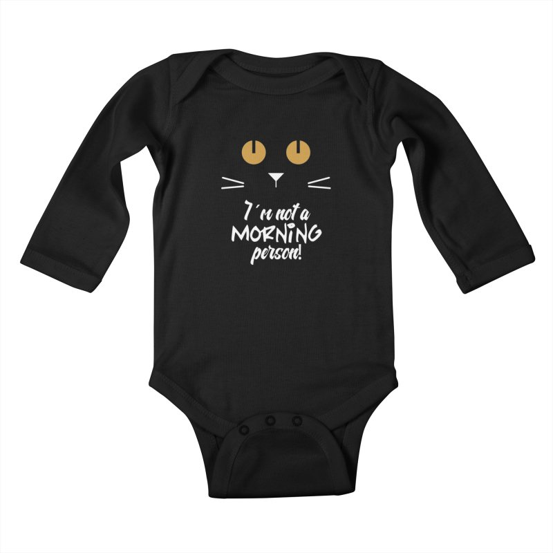 Not a morning person Kids Baby Longsleeve Bodysuit by Yellow Studio · the Shop!