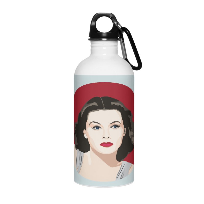 Hedy Lamarr portrait Accessories Water Bottle by Yellow Studio · the Shop!