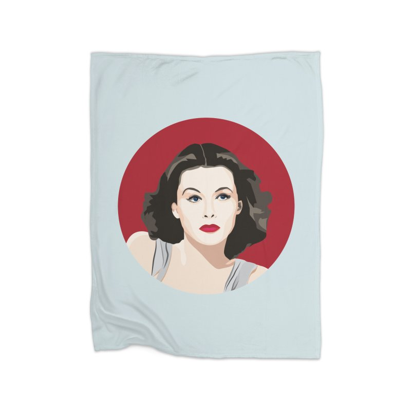 Hedy Lamarr portrait Home Fleece Blanket Blanket by Yellow Studio · the Shop!