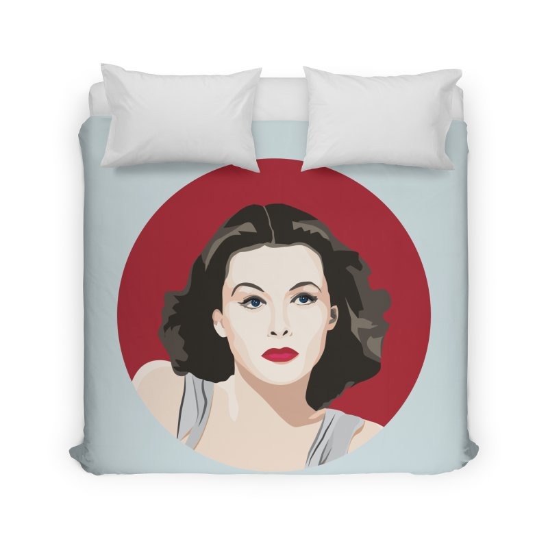 Hedy Lamarr portrait Home Duvet by Yellow Studio · the Shop!