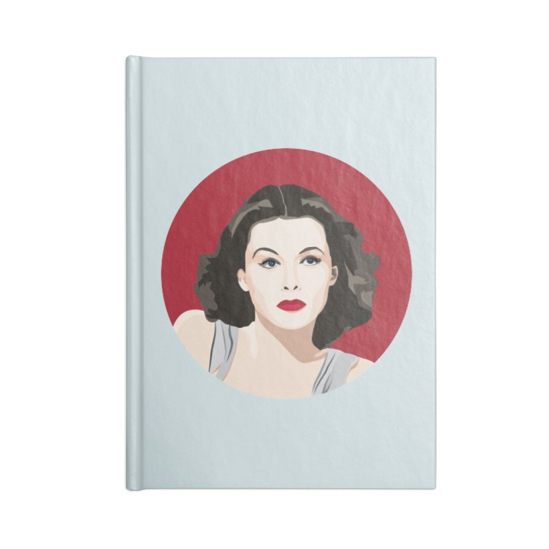 Hedy Lamarr portrait Accessories Lined Journal Notebook by Yellow Studio · the Shop!