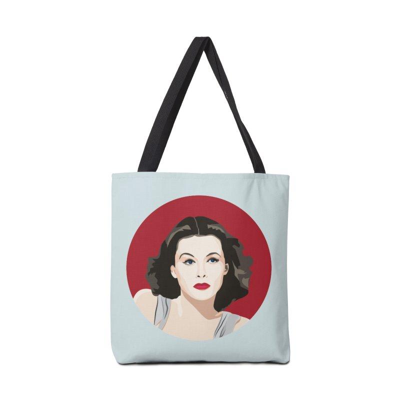 Hedy Lamarr portrait Accessories Tote Bag Bag by Yellow Studio · the Shop!