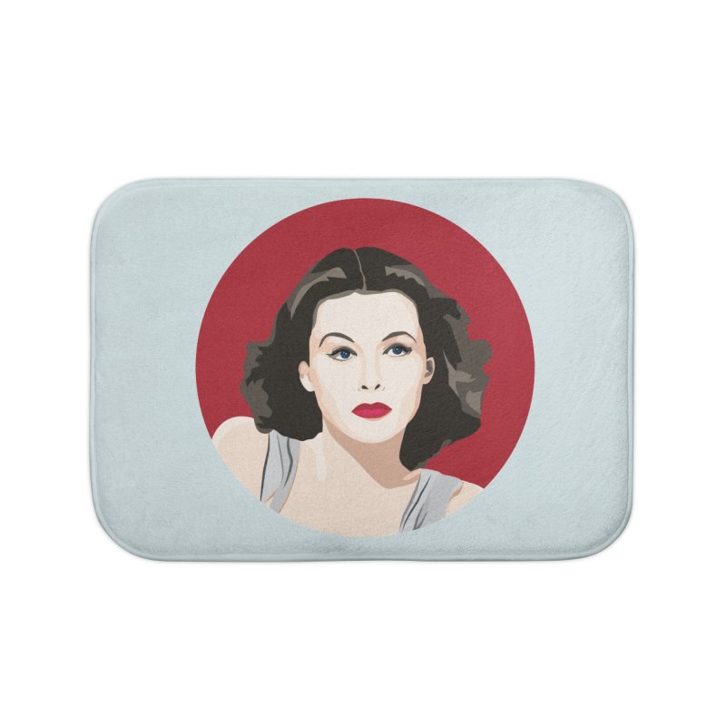 Hedy Lamarr portrait Home Bath Mat by Yellow Studio · the Shop!