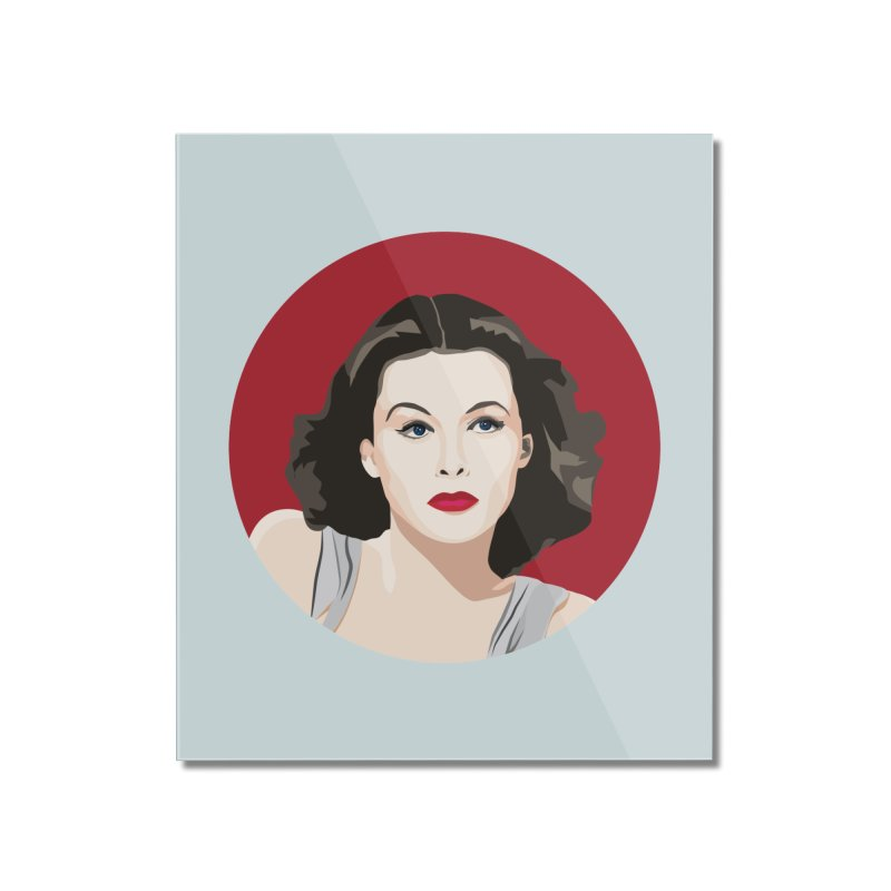 Hedy Lamarr portrait Home Mounted Acrylic Print by Yellow Studio · the Shop!
