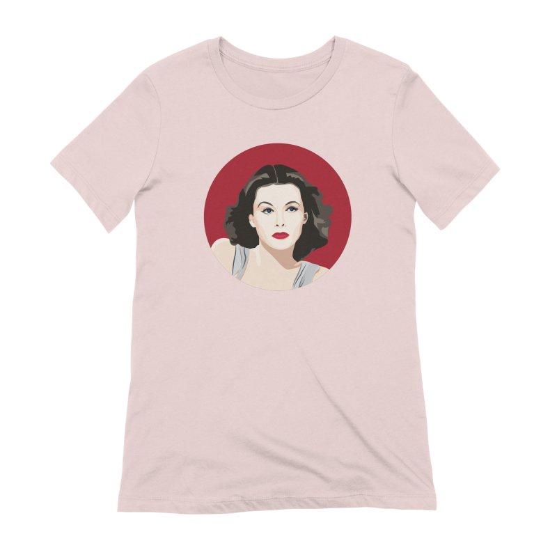 Hedy Lamarr portrait Women's Extra Soft T-Shirt by Yellow Studio · the Shop!