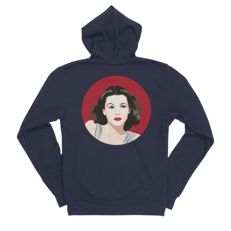 Hedy Lamarr portrait Men's Sponge Fleece Zip-Up Hoody by Yellow Studio · the Shop!