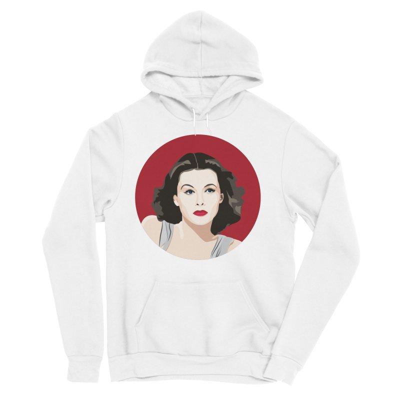 Hedy Lamarr portrait Women's Sponge Fleece Pullover Hoody by Yellow Studio · the Shop!