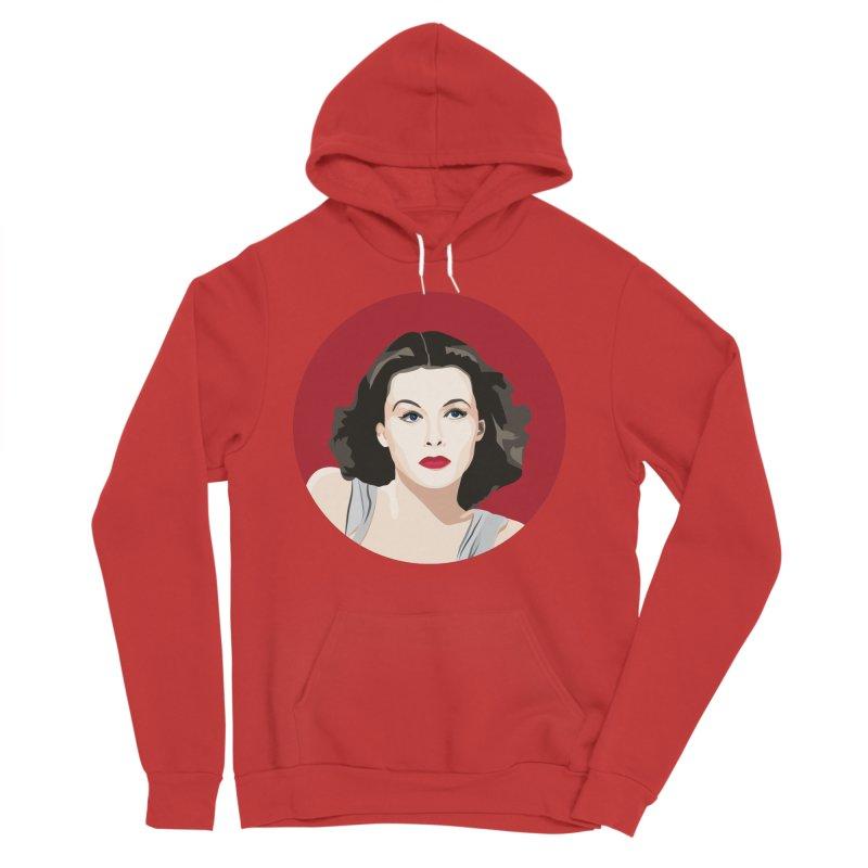 Hedy Lamarr portrait Men's Sponge Fleece Pullover Hoody by Yellow Studio · the Shop!