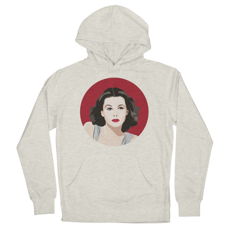 Hedy Lamarr portrait Women's French Terry Pullover Hoody by Yellow Studio · the Shop!