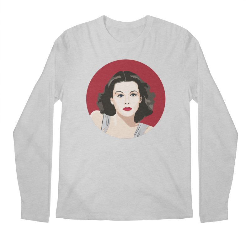 Hedy Lamarr portrait Men's Regular Longsleeve T-Shirt by Yellow Studio · the Shop!