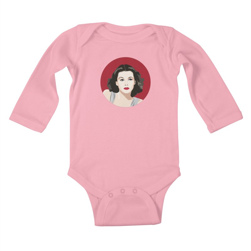Hedy Lamarr portrait Kids Baby Longsleeve Bodysuit by Yellow Studio · the Shop!