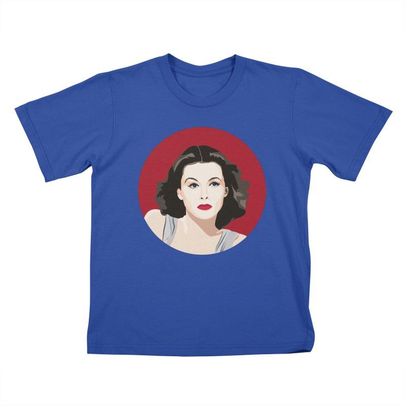 Hedy Lamarr portrait Kids T-Shirt by Yellow Studio · the Shop!
