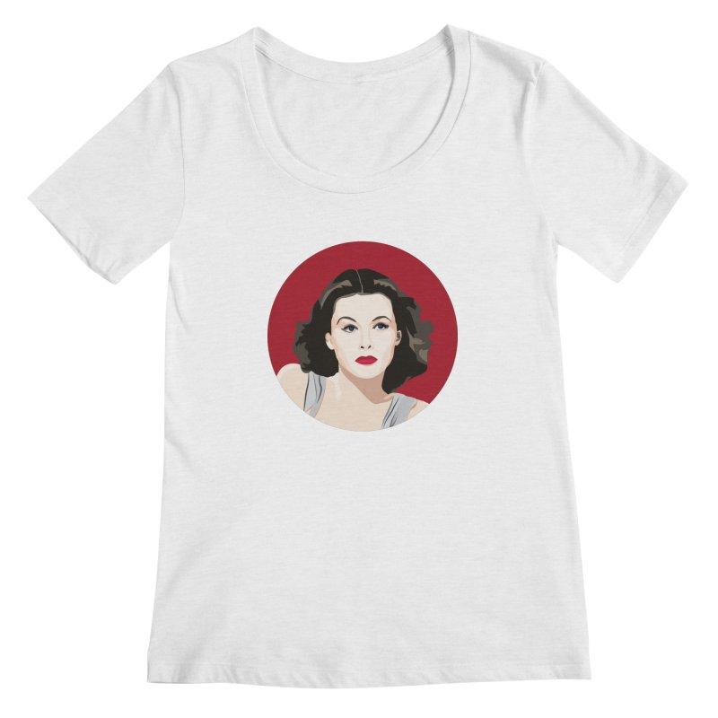 Hedy Lamarr portrait Women's Regular Scoop Neck by Yellow Studio · the Shop!