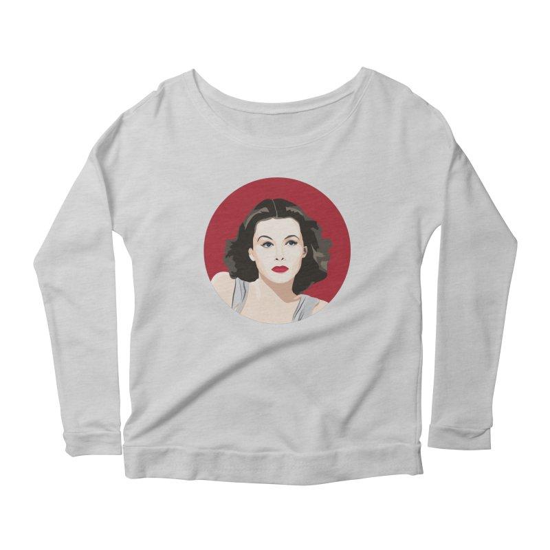 Hedy Lamarr portrait Women's Scoop Neck Longsleeve T-Shirt by Yellow Studio · the Shop!