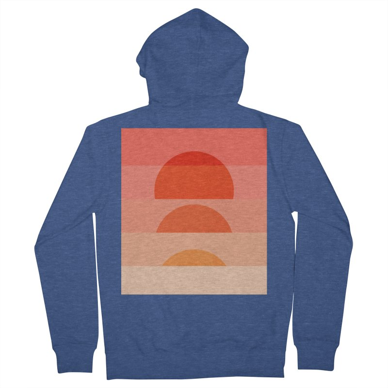 Abstraction_SUNSET_ART_001 Women's French Terry Zip-Up Hoody by yeohgh