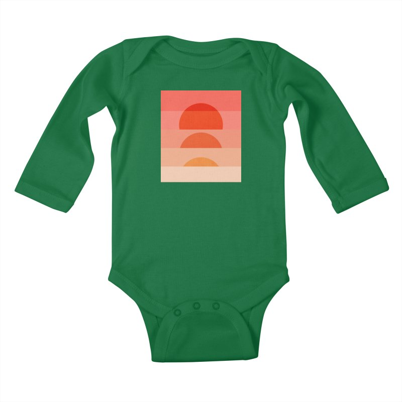 Abstraction_SUNSET_ART_001 Kids Baby Longsleeve Bodysuit by yeohgh