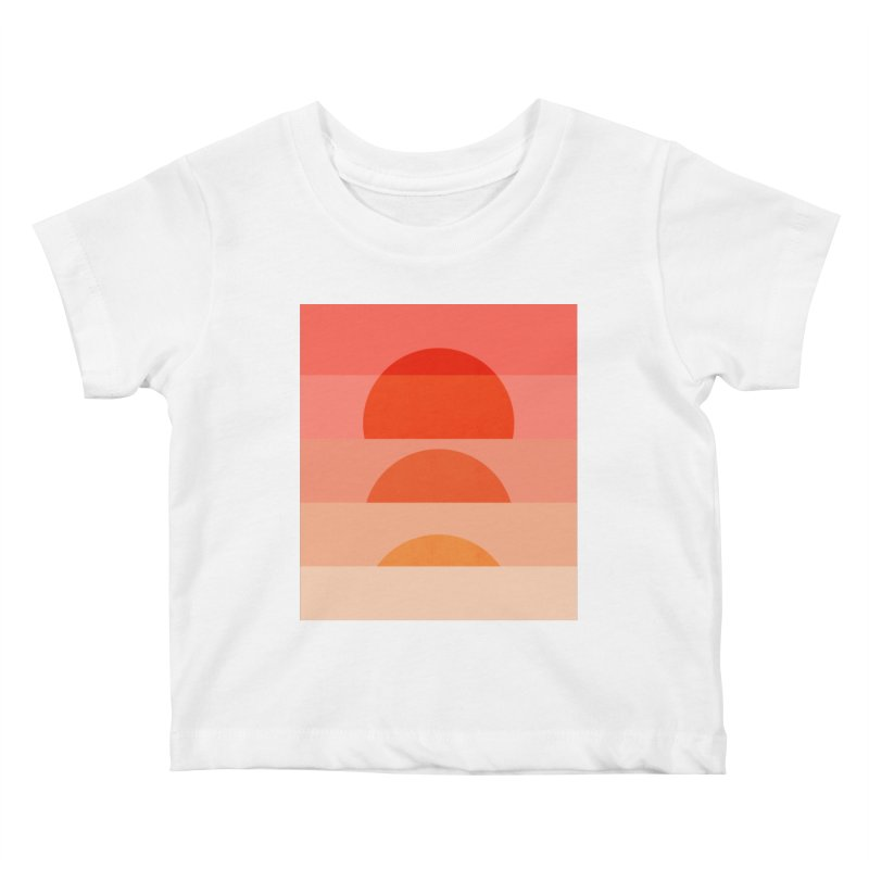 Abstraction_SUNSET_ART_001 Kids Baby T-Shirt by yeohgh