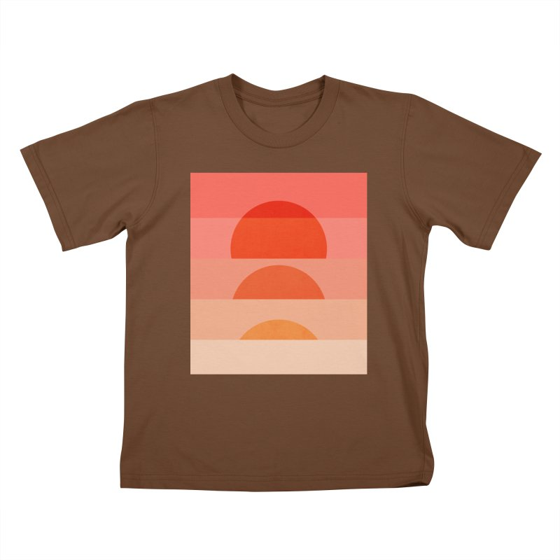 Abstraction_SUNSET_ART_001 Kids T-Shirt by yeohgh