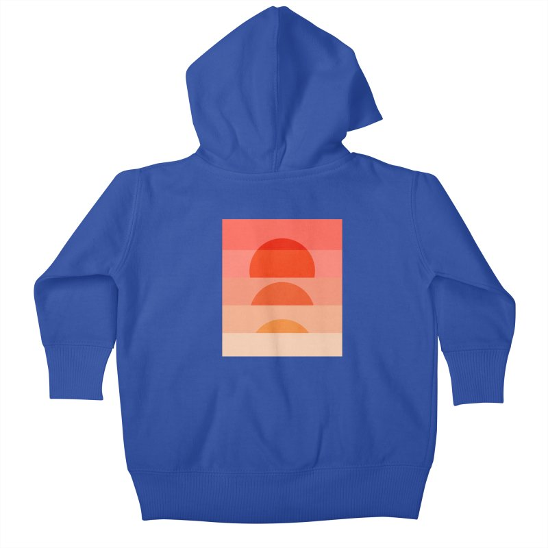 Abstraction_SUNSET_ART_001 Kids Baby Zip-Up Hoody by yeohgh