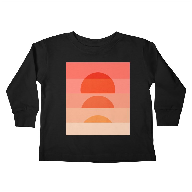 Abstraction_SUNSET_ART_001 Kids Toddler Longsleeve T-Shirt by yeohgh