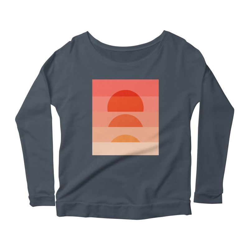 Abstraction_SUNSET_ART_001 Women's Scoop Neck Longsleeve T-Shirt by yeohgh