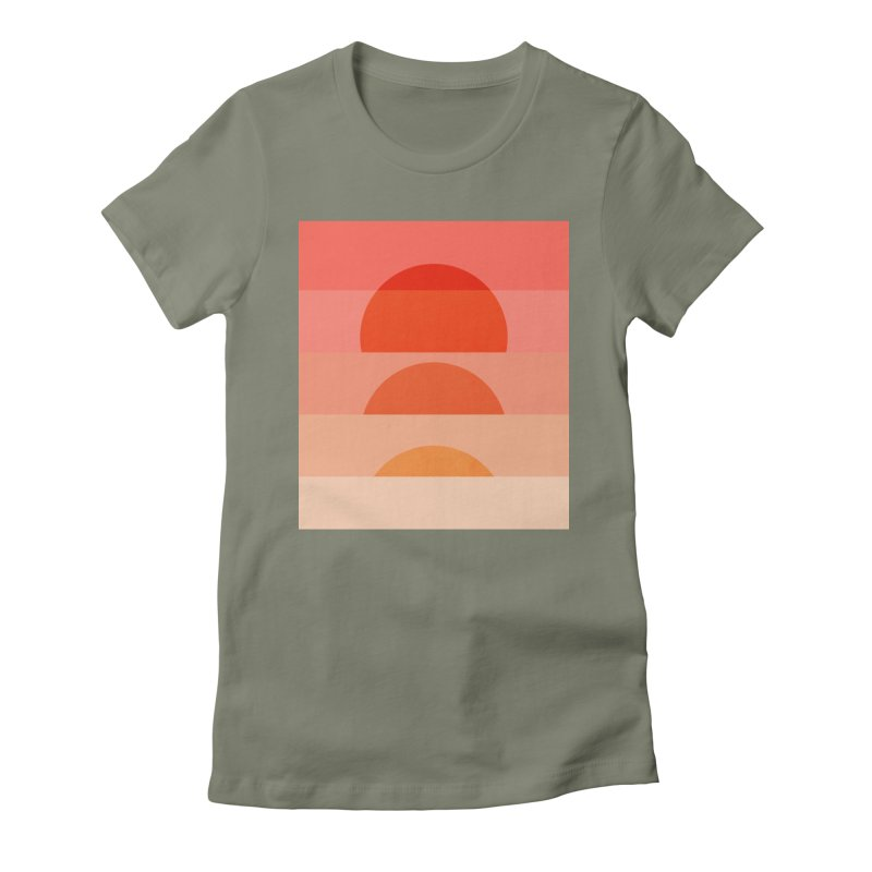 Abstraction_SUNSET_ART_001 Women's Fitted T-Shirt by yeohgh