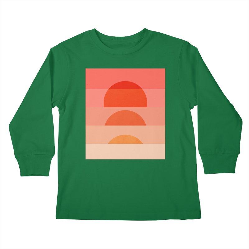 Abstraction_SUNSET_ART_001 Kids Longsleeve T-Shirt by yeohgh