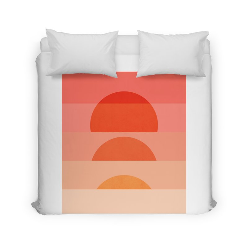 Abstraction_SUNSET_ART_001 Home Duvet by yeohgh