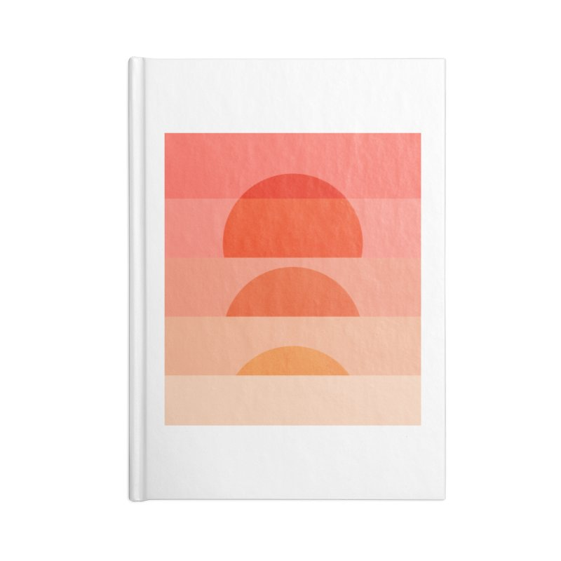 Abstraction_SUNSET_ART_001 Accessories Blank Journal Notebook by yeohgh