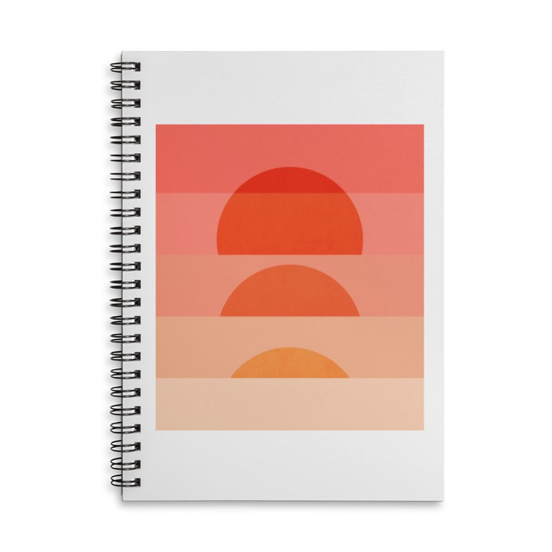 Abstraction_SUNSET_ART_001 Accessories Lined Spiral Notebook by yeohgh